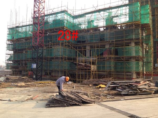 龙湖龙誉城28#楼工程进度图(2015.1)