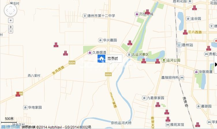 帝景城交通图