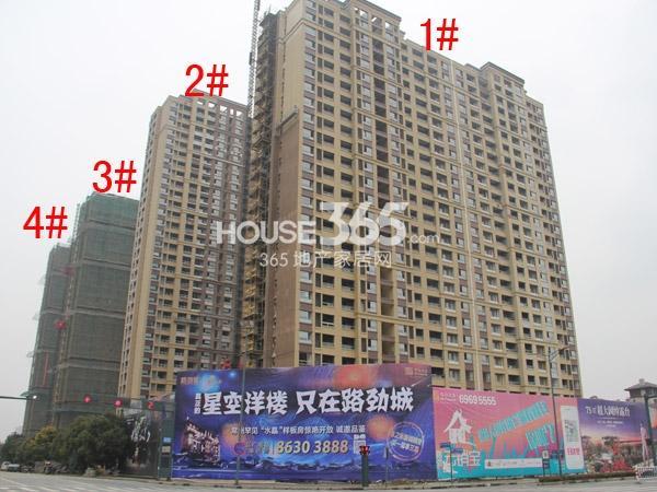 路劲城阳光高层1-4#楼工程进度(2015.1)