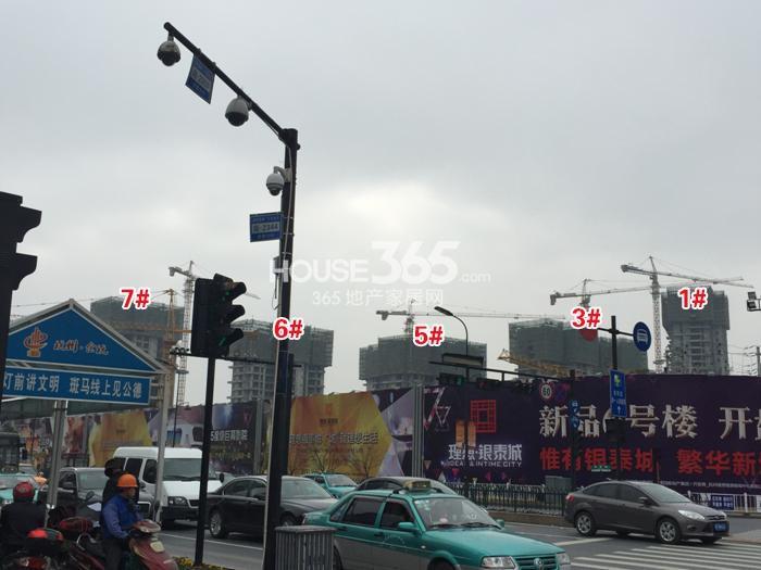 理想银泰城1、3、5、6、7号楼施工进程图(2015.1)