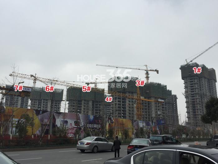 理想银泰城1、3—7号楼施工进程图(2015.1)
