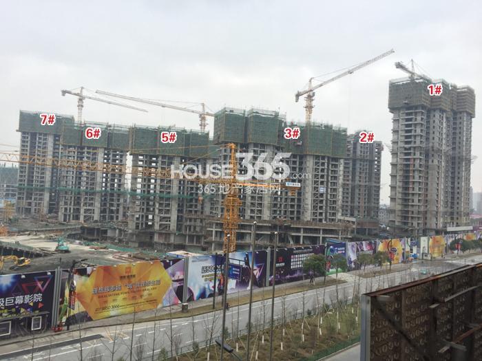 理想银泰城1—3、5—7号楼施工进程图(2015.1)