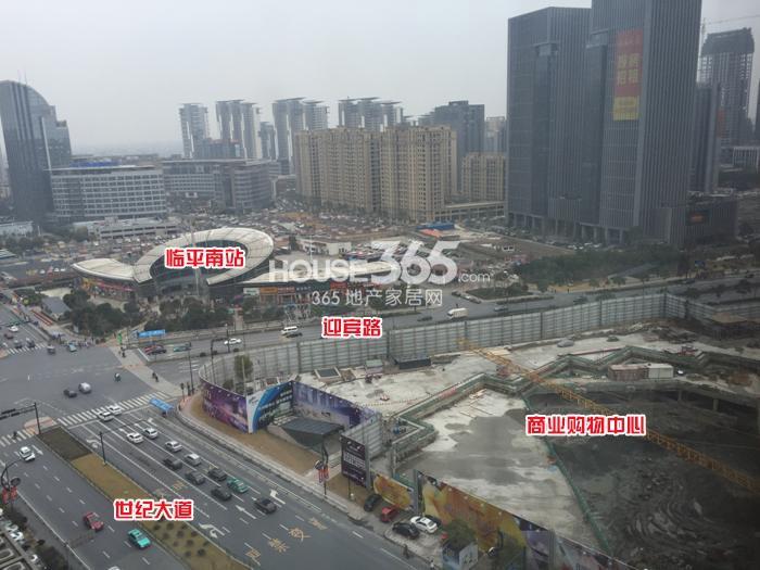 理想银泰城项目整体施工鸟瞰图(2015.1)