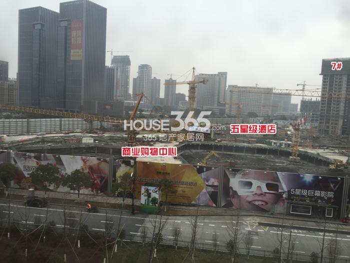 理想银泰城7号楼、购物中心、五星酒店施工进程图(2015.1)