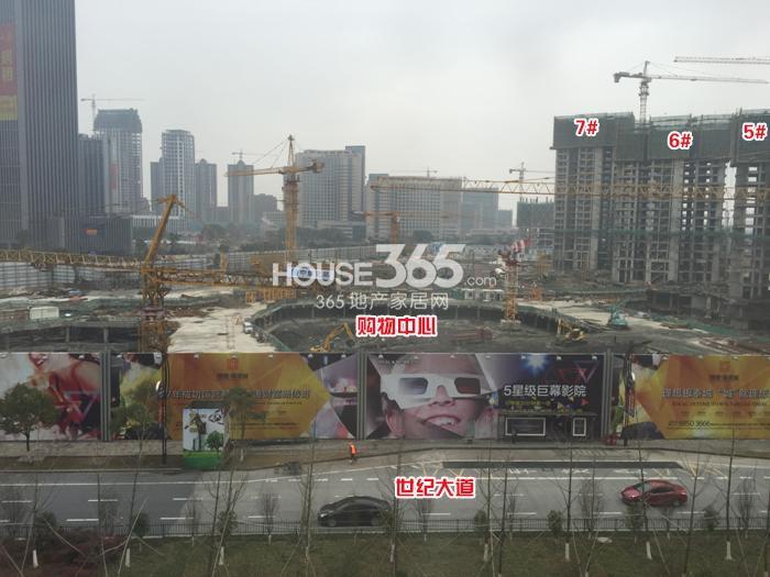 理想银泰城5、6、7号楼、购物中心施工进程图(2015.1)