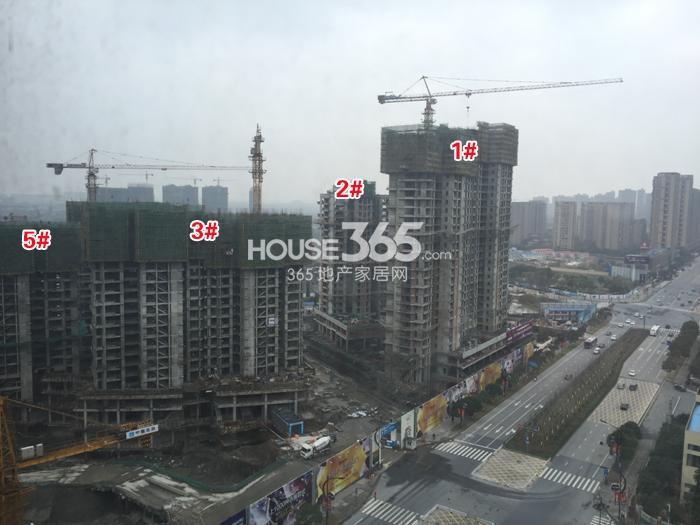 理想银泰城1、2、3、5号楼施工进程图(2015.1)