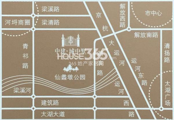 中建·城中墅区位图