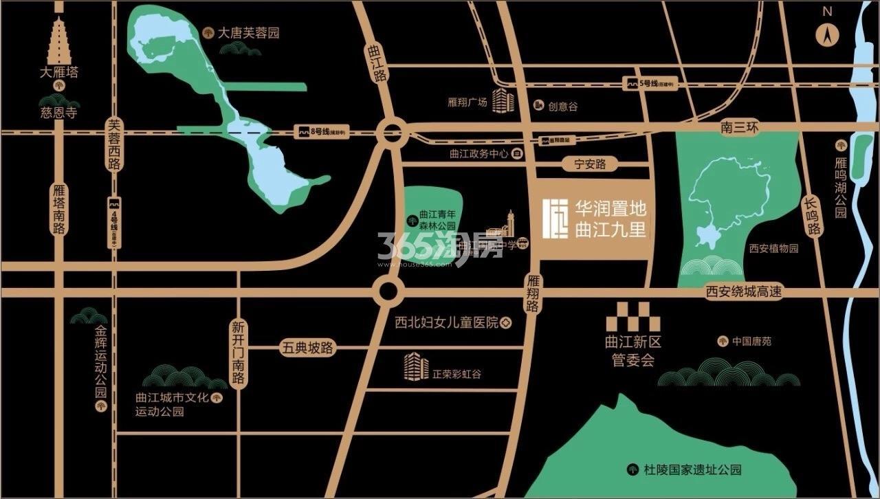 华润置地曲江九里交通图