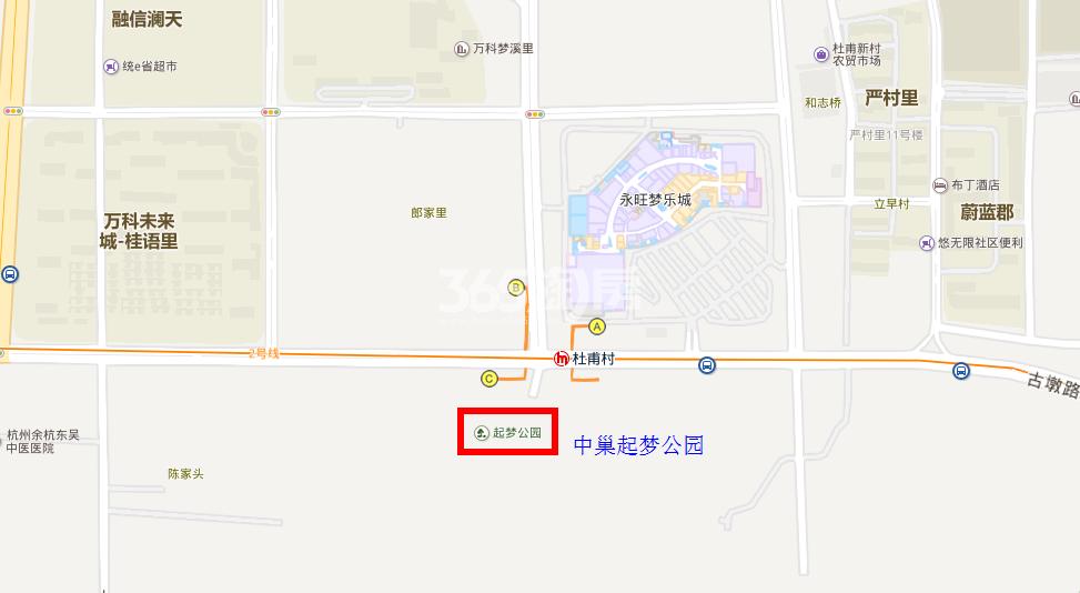 中巢起梦公园交通图