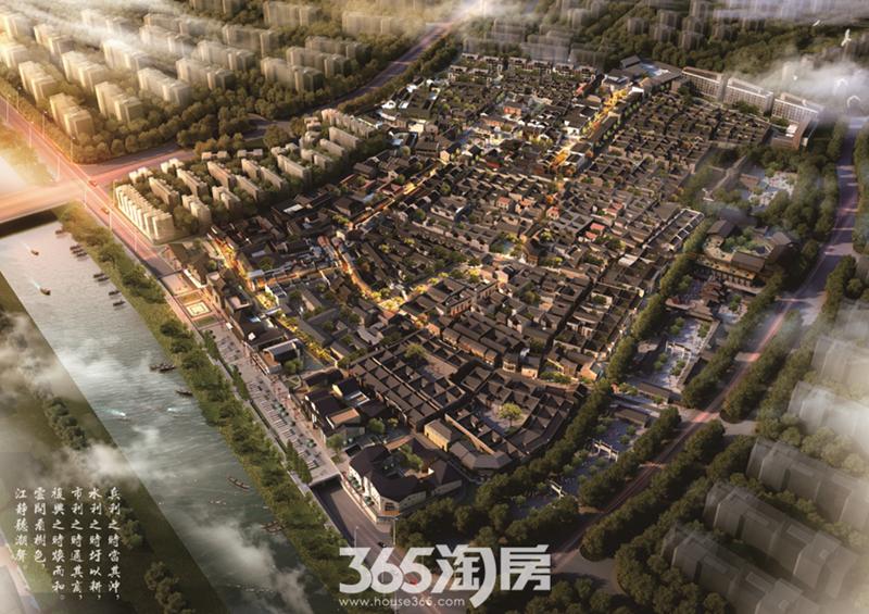 芜湖古城鸟瞰图