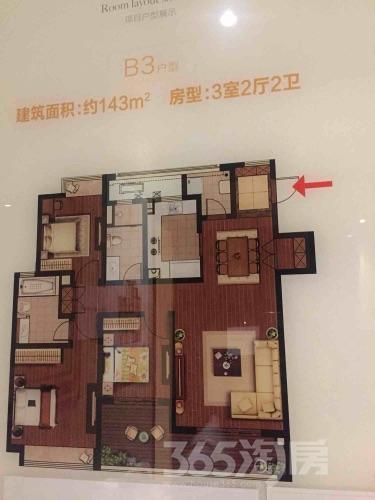 天宁龙洲伊都3室2厅2卫143�O