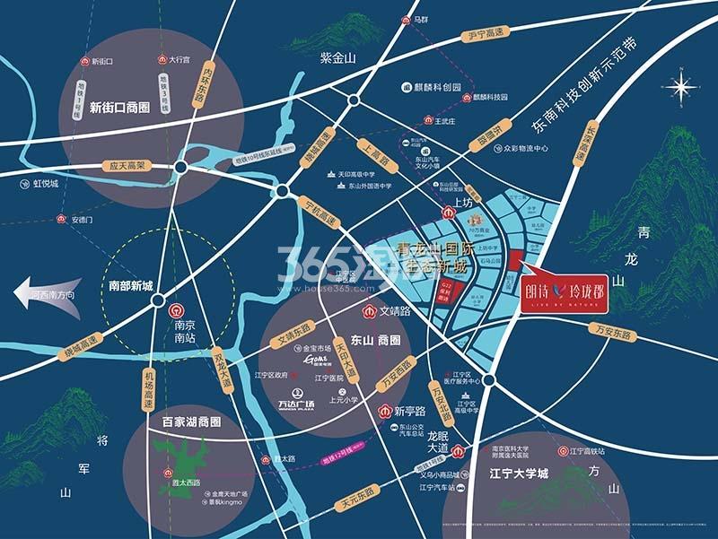 朗诗玲珑郡交通图