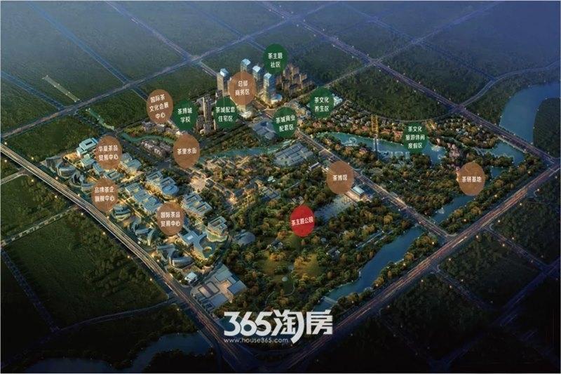 华夏茶里水街效果图