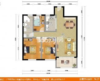 天正天御溪岸B区3室2厅1卫98平方米272万元