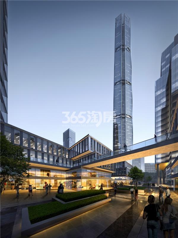 江北核心区第一高楼效果图