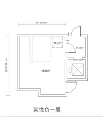 万科悦湾180㎡复式洋房负一层户型图