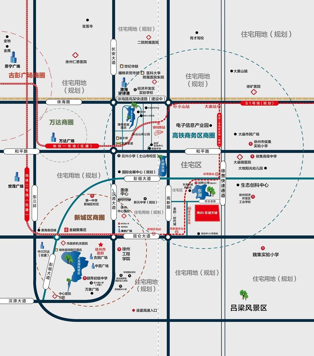 美的东湖天城交通图