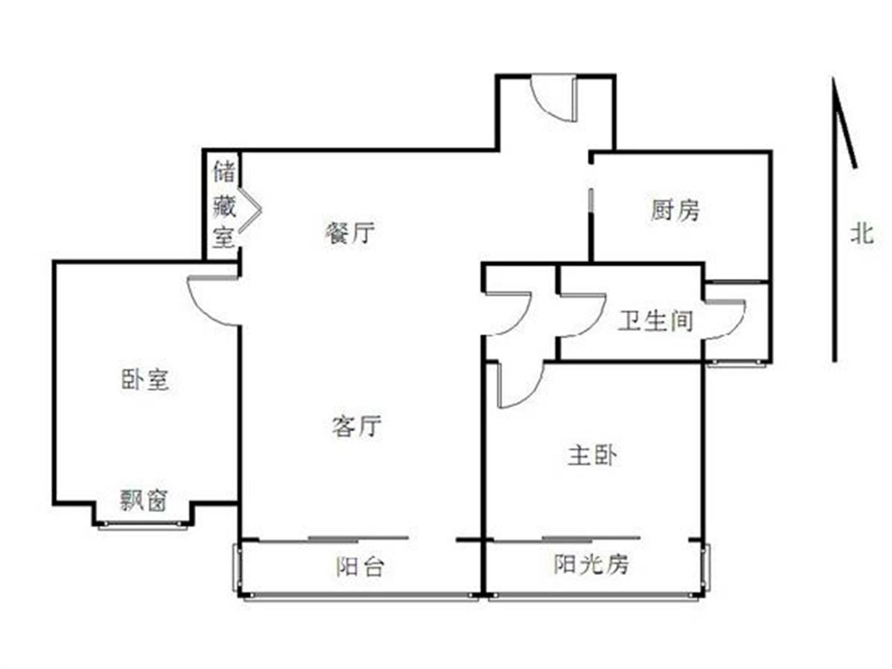 栖霞区仙林东方天郡东区2室2厅户型图