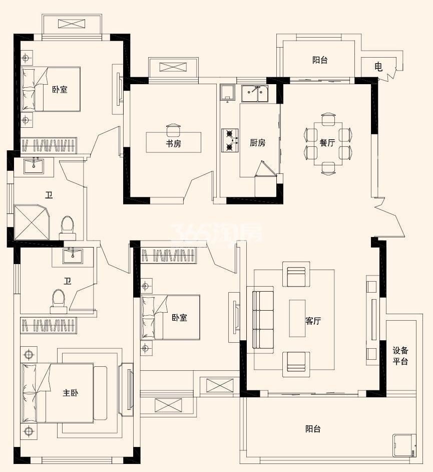 太古光华城洋房112.94平方米户型图