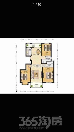 华府国际3室2厅2卫117平米毛坯产权房2015年建