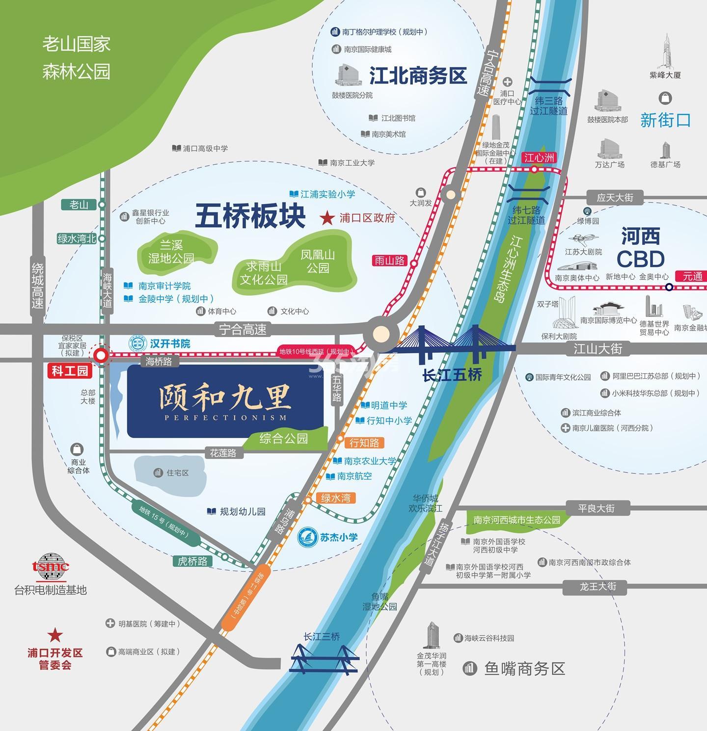 颐和九里交通图