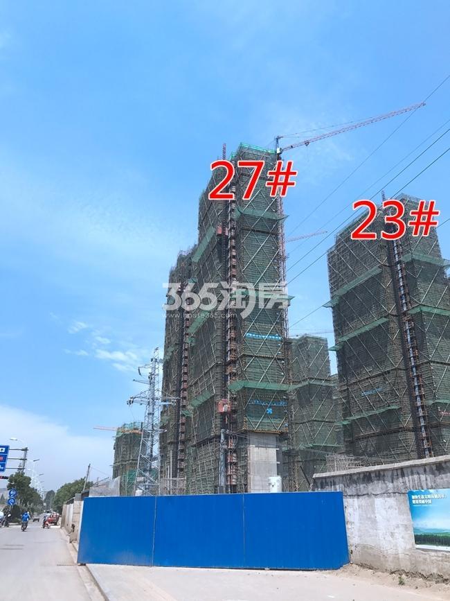 融创玉兰公馆23、27#工地建设进度实景图(7.26)