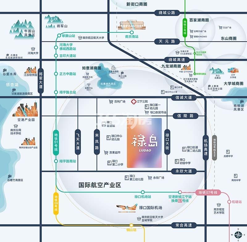 和昌绿地新悦湾交通图