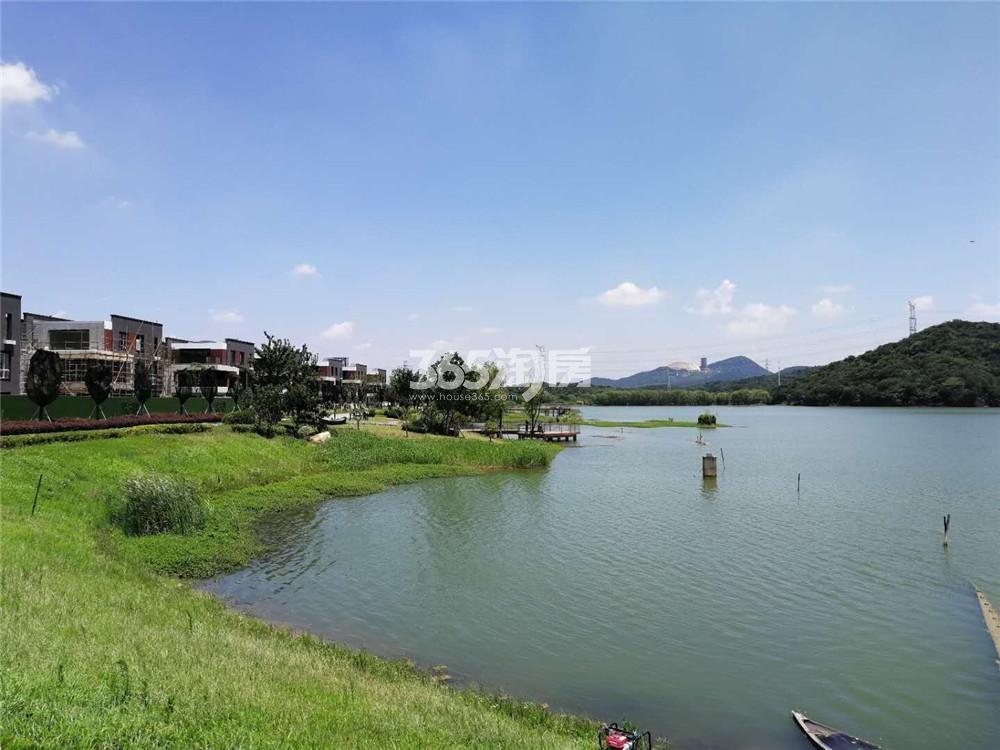 瑞安翠湖山售楼处湖面外景(8.10)