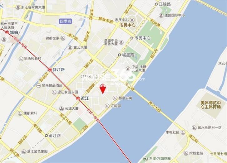 安居临江金座交通图