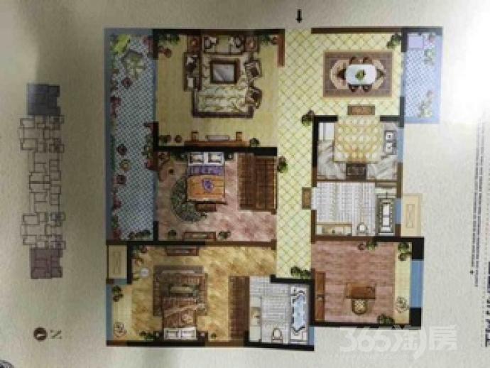 武进御城3室2厅2卫140.22�O