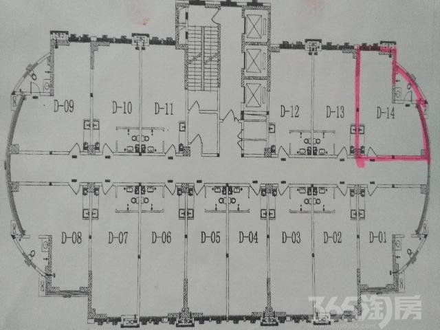 派克公馆D-141室1厅1卫63.03�O2018年毛坯房