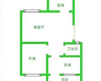 东海现代城两室 二楼精装 证过两年 可贷款 带储藏间 55万