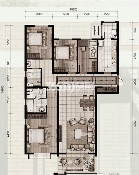 十二院城户型图