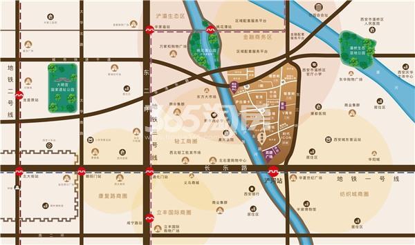 御锦城项目区位图