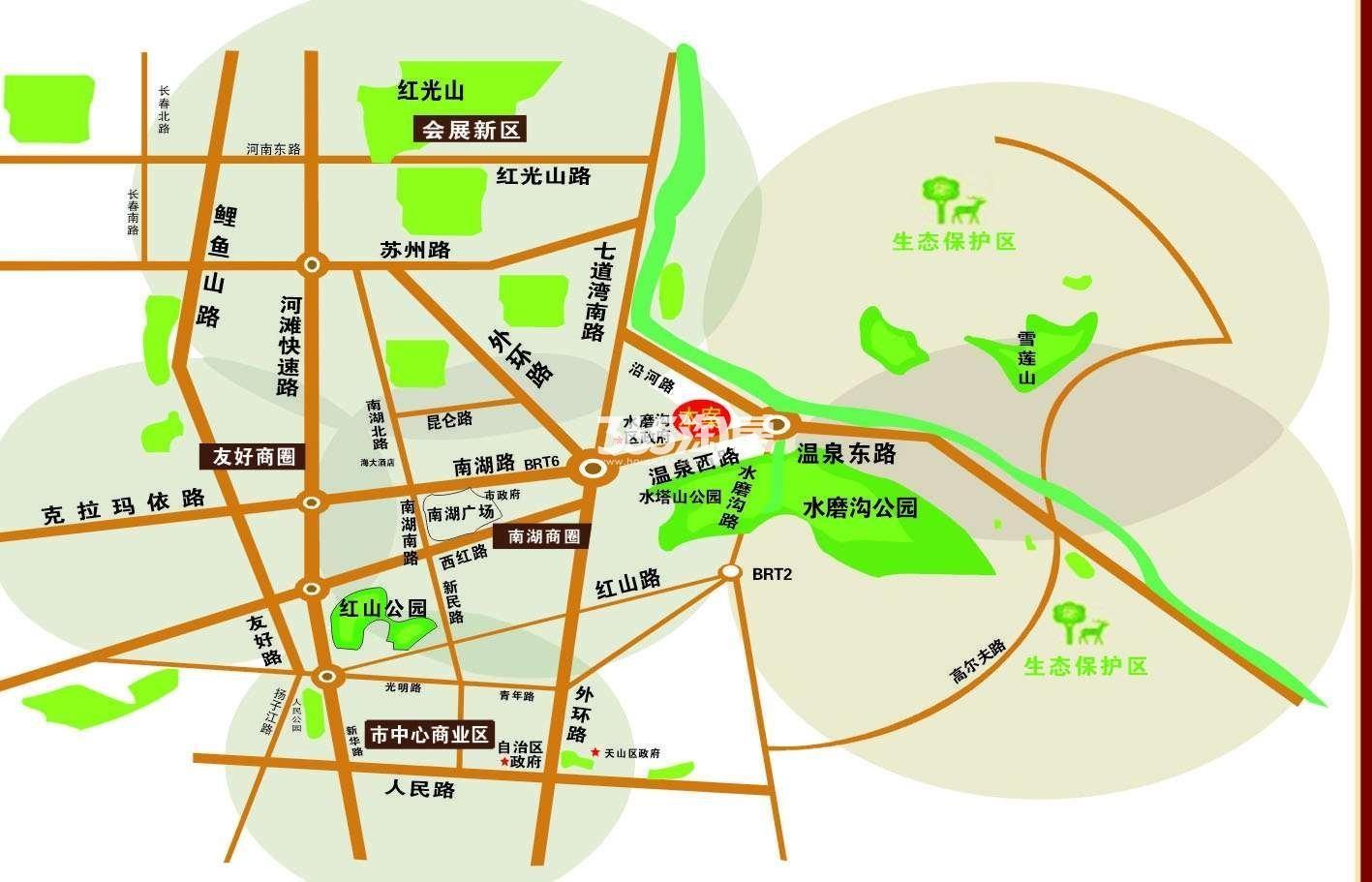 龙悦盛庭交通图