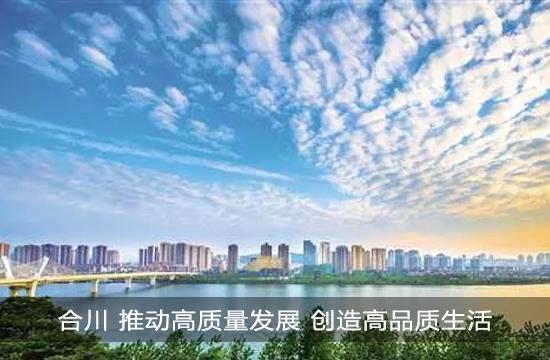 合川 推动高质量发展 创造高品质生活