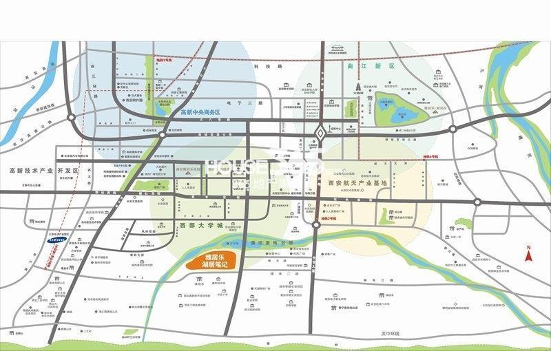 雅居乐湖居笔记交通图