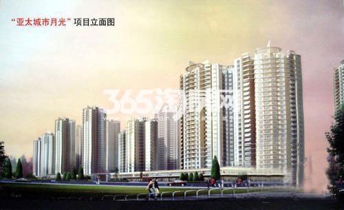 亚太城市月光效果图