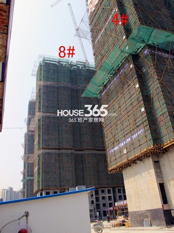 弘阳广场4#、8#楼工程进度图(2015.4)