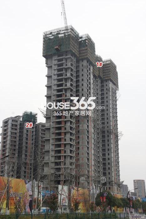 理想银泰城项目1、2号楼施工进程图(2015.4)