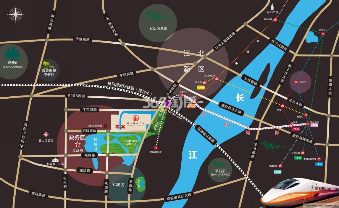 明天城市广场交通图