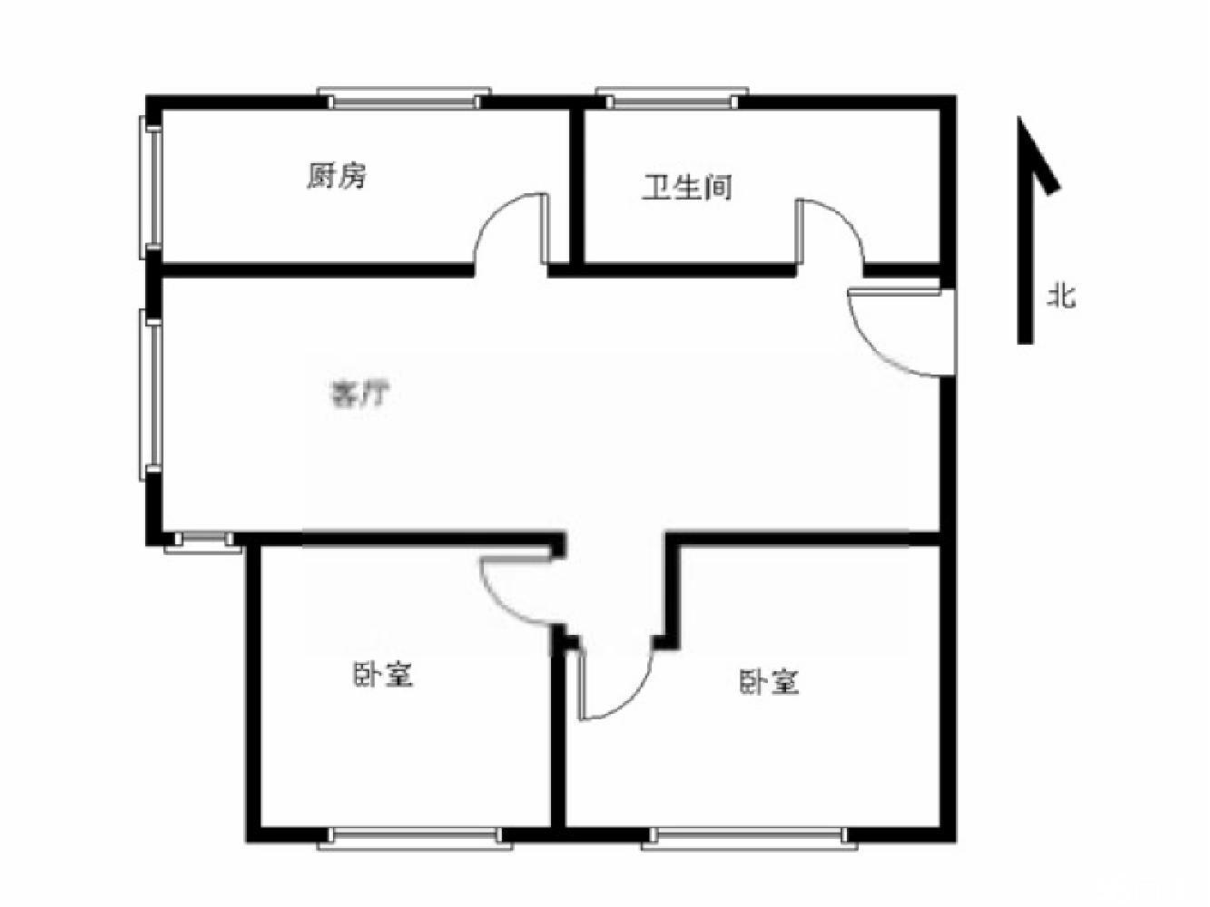 秦淮区瑞金路瑞金新村2室1厅户型图