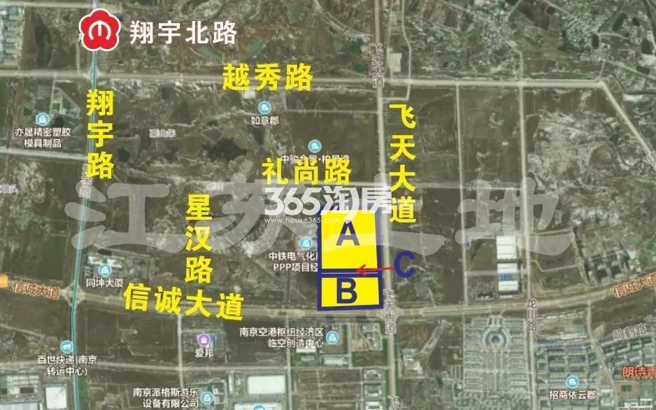 江宁城建禄口G104地块交通图