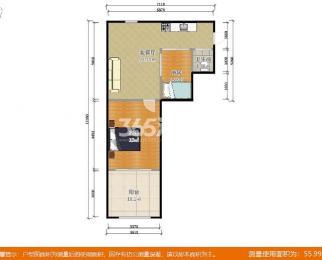 瑞金新村2室2厅1卫64平米精装产权房1978年建