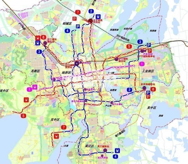 苏州铂悦府交通图