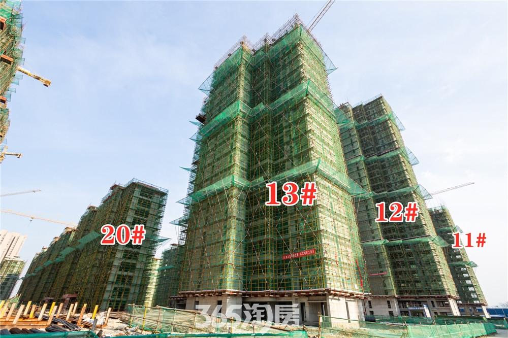华强江山府11#、12#、13#、20#工程进度实拍(2020.3月摄)