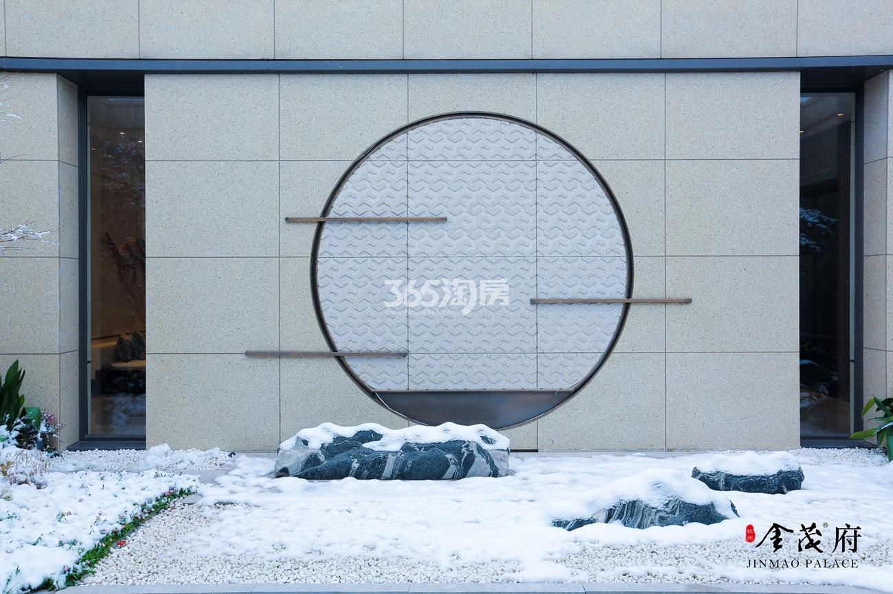 2018年1月首开杭州金茂府示范区局部实景