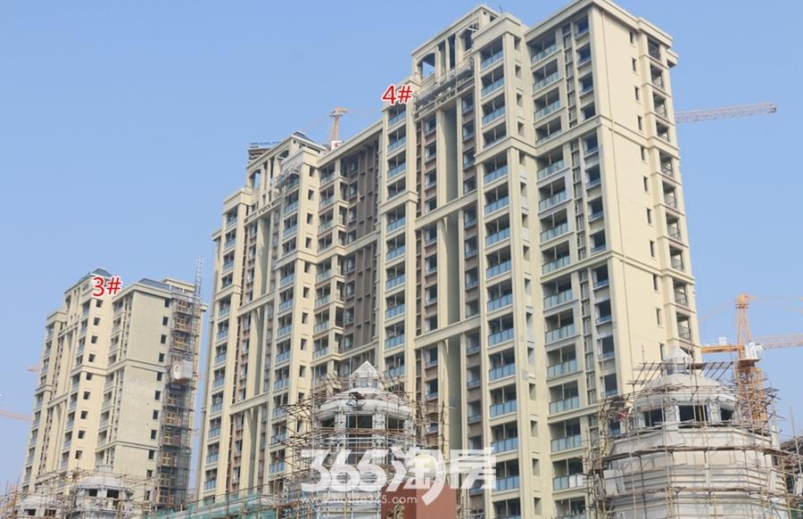 信德悦城3#、4#楼最新工程进度图(2018.3摄)