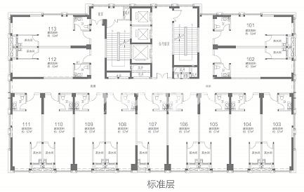 荣盛华府二区·玖珑院 公寓标准层