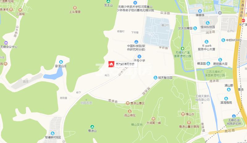 新力朗诗熙华府交通图